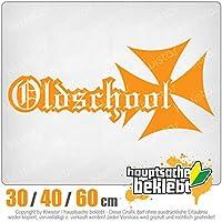 KIWISTAR - Oldschool iron cross 15色 - ネオン+クロム! ステッカービニールオートバイ