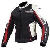 コミネ(Komine) バイクジャケット Rスペックスポーツメッシュジャケット-ロンバルド アイボリー/ブラック S 07-092 JK-092