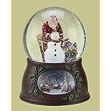 Roman スノーグローブ クリスマス 音楽とともにサンタクロースと雪だるまが回転 グリッタードーム 「Have Yourself a Merry Little Christmas」を演奏