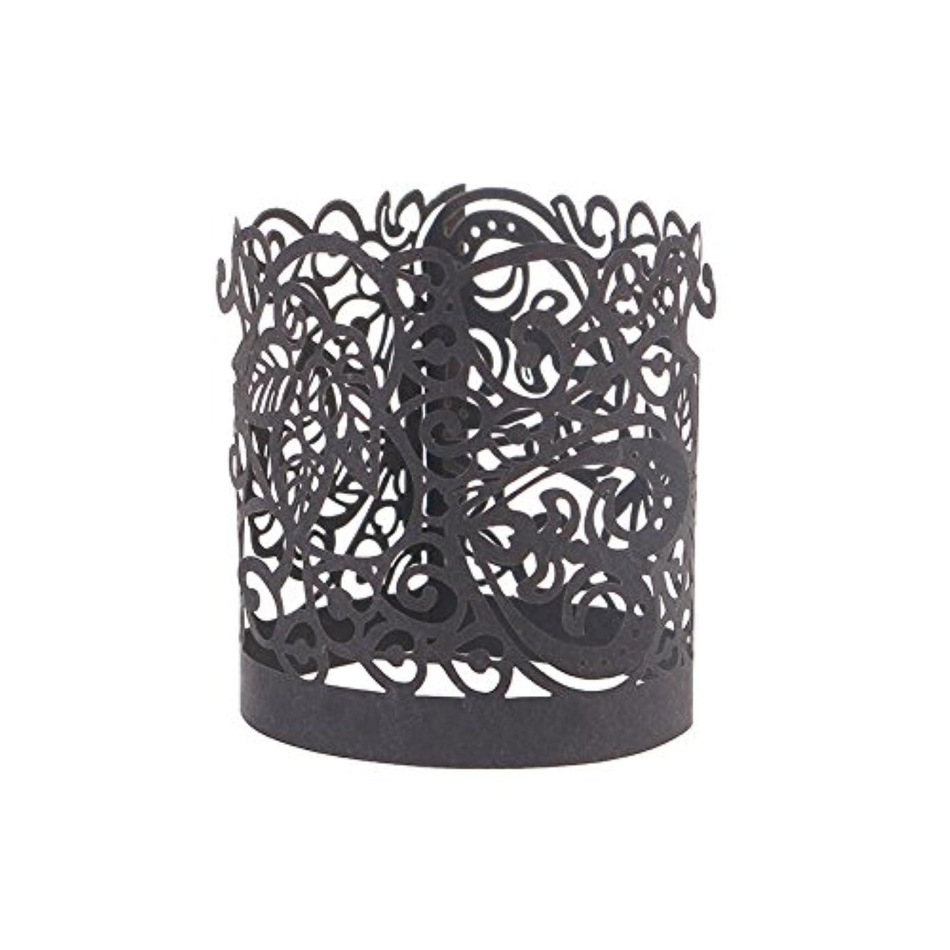実証するリスキーな抱擁50個ティーライトキャンドルペーパーラップフレームレス奉納キャンドルホルダーパーティーの装飾(13.5cm×4.5cm黒)