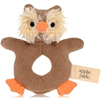 Apple Park Picnic Pal Teething Rattle, Owl [並行輸入品]