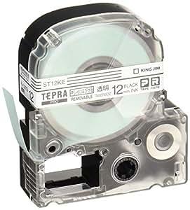 キングジム テープカートリッジ テプラPRO キレイにはがせるラベル 12mm 透明 ST12KE