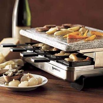 スイス料理 スイスマー ラクレットグリル ラクレットオーブン 御影石付 Swissmar KF-77081 8-Person Raclette Party Grill
