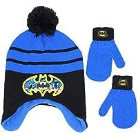 DC Comics Little Boy's Batman Winter Hat and Mitten Set, Ages 5-13