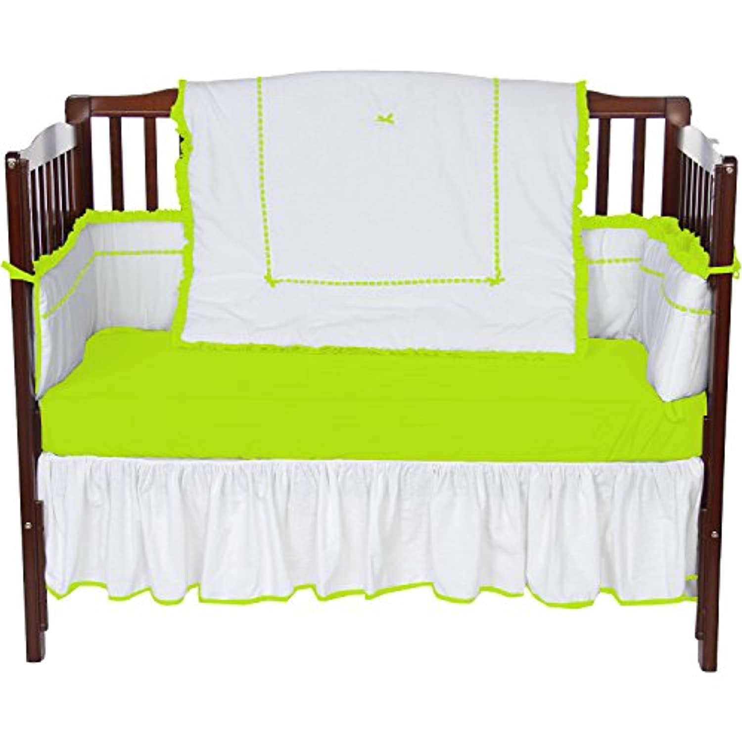 Baby Doll Bedding Unique 4 Piece Crib Bedding Set, Green Apple by BabyDoll Bedding