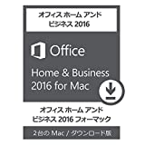 Office Home and Business 2016 for Mac 2PC ダウンロード版 永続版 オンライン認証保証