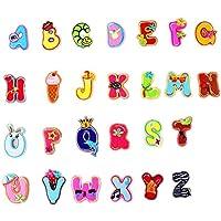 アルファベットA-Z 刺繍ワッペン アイロン接着 26枚セット アイロン ワッペン 刺繍 男の子 女の子 かわいい かっこいい 入園 入学 マーク 幼稚園 保育園 小学校 アップリケ ギフト イニシャル シンプル (Animals)