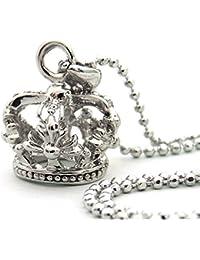 王冠 クラウン シルバーカラー キラキラ輝く煌きカットGlass メンズ[n843]