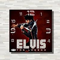 エルヴィス・アーロン・プレスリー (Elvis Aaron Presley) 29 cm Handmade Wall Clock
