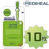 Mediheal メディヒール ティーツリー・ヒーリング・エッセンシャル・マスクパック10枚入り1箱 (Teatree Healing Essential Mask Pack 1box 10sheet)