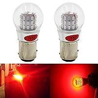 AMAZENAR 2-Pack 1157 BAY15D 1016 1034 7528 2057 2357赤色LEDライト非常に明るい12V-DC、AK-3014リアブレーキライト用39 SMD交換用電球