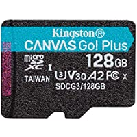 Kingston microSD 128GB UHS-I U3 V30 A2対応 Nintendo Switch動作確認済 アダプタ付 Canvas Go! Plus SDCG3/128GB 永久保証