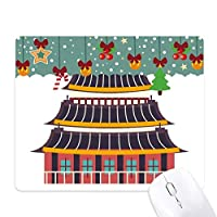 韓国における寺院を訪ねて ゲーム用スライドゴムのマウスパッドクリスマス