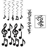 Music Note Party Set (Includes Garland Silhoutte and Whirls) [並行輸入品]