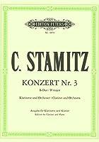 シュターミッツ : クラリネット協奏曲 コンチェルト 第三番 変ロ長調 (クラリネット、ピアノ) ペータース出版