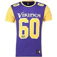 マジェスティック (Majestic) NFL メッシュ ポリエステル ジャージー ティーシャツ - ミネソタ?ヴァイキングス (Minnesota Vikings)