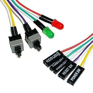 クラムワークス PCマザーボード用 スイッチ & LED 【ケーブル長 65cm】 KGL065X25 紙箱入り