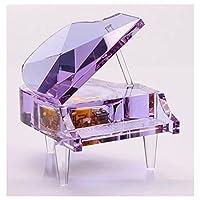 ラグジュアリークリスタルピアノ音楽のボックスでパープル、再生Tune for City of Sky