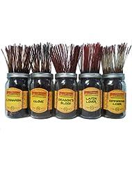 Wildberry Incense SticksスパイシーScentsセット# 3 : 4 Sticks各5の香り、合計20 Sticks 。