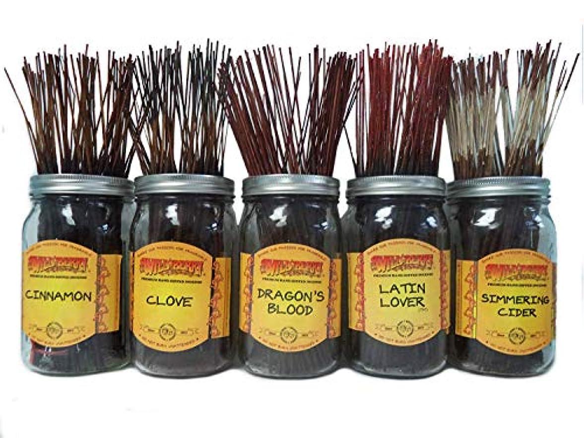ジュラシックパークページホームWildberry Incense SticksスパイシーScentsセット# 3 : 4 Sticks各5の香り、合計20 Sticks 。