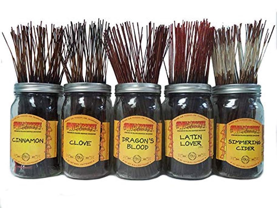 販売員アベニュー海岸Wildberry Incense SticksスパイシーScentsセット# 3 : 4 Sticks各5の香り、合計20 Sticks 。