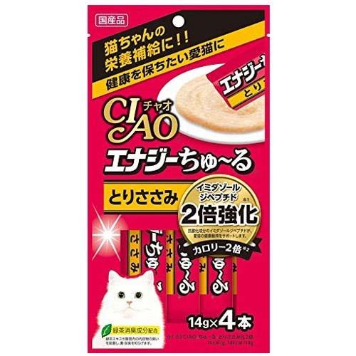 お買得セット いなば CIAO(チャオ) エナジーちゅ~る とりささみ 14g×4本 お買得6袋 国産 ちゅーる