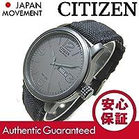 【デッドストック/アウトレット品】CITIZEN (シチズン) BM8475-00FB EcoDrive/エコドライブ ソーラー キャンバスベルト ブラック メンズウォッチ 腕時計[並行輸入品]