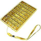 B Baosity 2色選ぶ プラスチック製 イスラム教 アラビア語 学習 教育おもちゃ 外国語 学習ツール - 黄