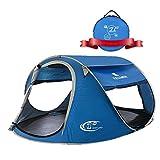 ZOMAKE テント サンシェード ポップアップテント 2-3人用 UVカット ワンタッチ 撥水 自動設置 キャンペーン 軽量 登山 海水浴・キャンプ・アウトドア …