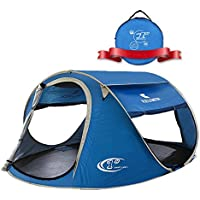 ZOMAKE軽量ポップアップ テント サンシェード ワンタッチ 1秒展開 2-3人 UV紫外線カット メッシュ四面 防撥水 自動設置 キャンペーン 登山 海水浴 キャンプ アウトドア