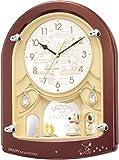 リズム時計 SNOOPY ( スヌーピー ) からくり キャラクター 掛け時計 M778 毎正時 メロディ 6曲 入り 茶 4MH778MA09