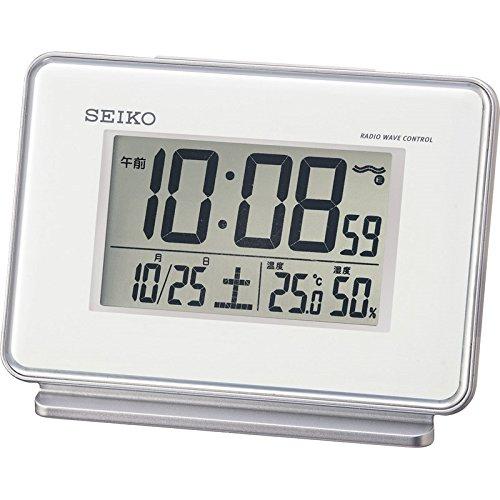 セイコー 温・湿度表示付電波目覚まし時計 【アラーム2チャン...