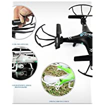 QWG FD 9918 Drone UFO Protect the LCD with 2.4G 4CH RC Helicopter Quadcopter With 2.0MP Camera , black