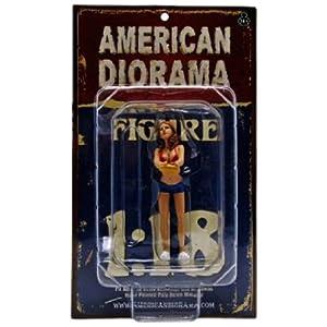 1/18 American Diorama Car Wash Girl - Jennifer 女性 洗車ガール フィギュア 模型