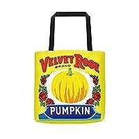 ベルベットローズPumpkin–元のヴィンテージトートバッグ大、頑丈な、Heavyweight & Weather Resistant