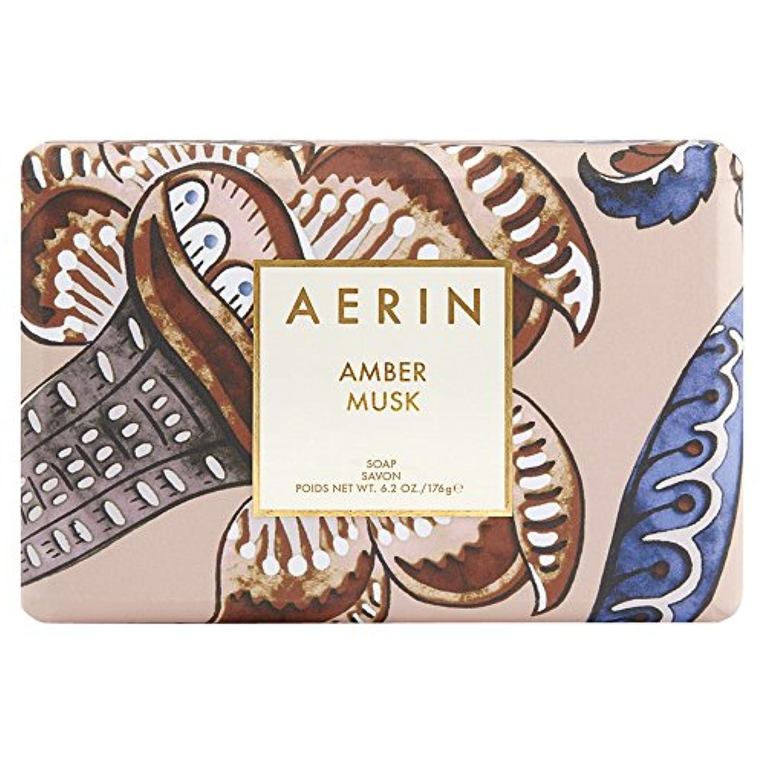 与える木製現れるAerinアンバームスクソープ176グラム (AERIN) (x6) - AERIN Amber Musk Soap 176g (Pack of 6) [並行輸入品]
