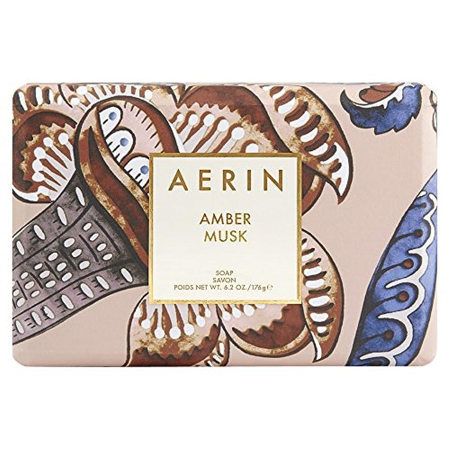 浴室合成ロッカーAerinアンバームスクソープ176グラム (AERIN) (x6) - AERIN Amber Musk Soap 176g (Pack of 6) [並行輸入品]