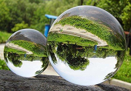 Tyou 水晶球 水晶玉 クリスタル クリア ボール レンズ ボール 無色透明 クリスタル ボール 40mm 風水 占い 結婚式 装飾品