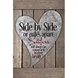 Sisters Wood Plaque with Inspiring Quotes 6x9 - Classy Vertical Frame Wall & Tabletop Decoration | Easel & Hanging Hook | Sid