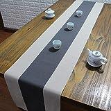 テーブルランナー ホームデコレーション 北欧 スタイル シンプル 工芸品 長方形 エレガント お茶会 ディナーパーティー 家庭用 キッチン (Color : Gray, Size : 30*170cm)