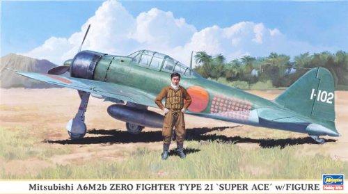 1/48 三菱A6M2b 零戦21型「撃墜王w/フィギア」