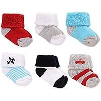 Just One You Made Byカーターの赤ちゃんの男の子6パックAnkle Sock – レッド/ブルーサイズ0 – 3 M
