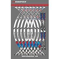 オートバイ 車輪 縁 リム 縞 反射 ステッカー 適応車種 BMW S1000RR (ホワイト+ブルー)