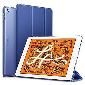 ESR iPad Mini 5 2019 ケース 軽量 薄型 PU レザー スマート カバー 耐衝撃 傷防止 クリア ハード 背面 ケース 三つ折り スタンド オートスリープ ウェイクアップ 機能 iPad Mini5(第五世代) 専用(ネイビーブルー)