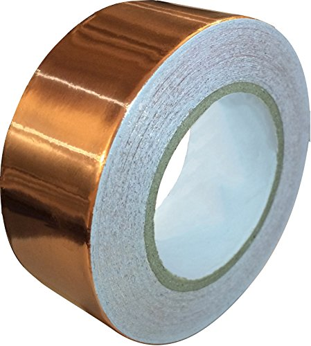 Copper Foil Tape with Conductive Adhesive (1inch X 12yards) - Slug Repellent, EMI Shielding, Stained Glass, Paper Circuits, Electrical Repairs - Extra Long Value Pack At A Great Price…