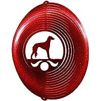 Saluki Circle Swirly Metal Wind Spinner 2264