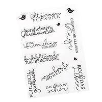 Homyl シリコーンスタンプ シート 透明な カード作成 装飾 全4スタイル - スタイル2