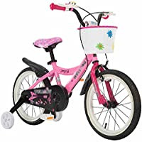 YANFEI 子ども用自転車 子供の自転車の女の子赤ちゃんプリンセスピンク6-10歳 子供用ギフト