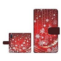 スマホケース 手帳型 GALAXY Note10+ SC-01M SCV45 ギャラクシー ノートテンプラス 対応 docomo au カード収納 スタンド機能 内側カラー:ブラウン Snowflake