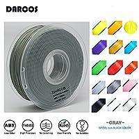新品 DARCOS 3Dプリンター用ABSフィラメント1.75mm 1kg (グレー)